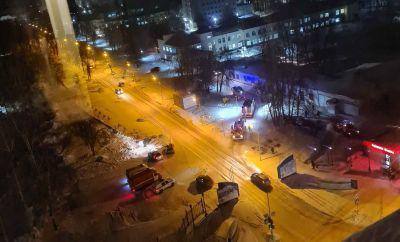 Медицинский центр горит в Новосибирске