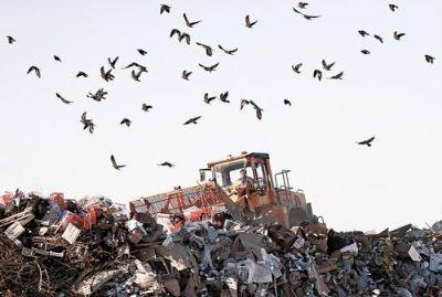Горы мусора у аэропортов