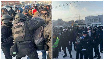 Десятки митингующих задержаны в центре Новосибирска