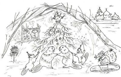Художница собирает деньги на книгу о сказочной Снегуровыдрочке