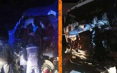 «Слов нет, жесть»: три грузовика столкнулись под Новосибирском