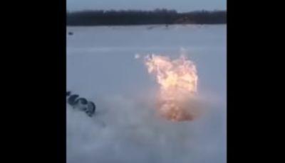 Рыбак в Сибири поджег Иртыш