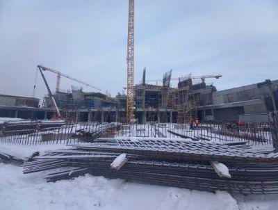 Началось строительство четвертого из шести этажей на ЛДС в Новосибирске