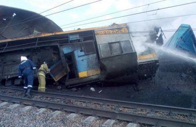 Грузовые поезда столкнулись на станции в Новосибирской области