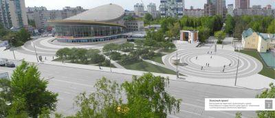 Сквер победил парковку на площади перед цирком в Новосибирске