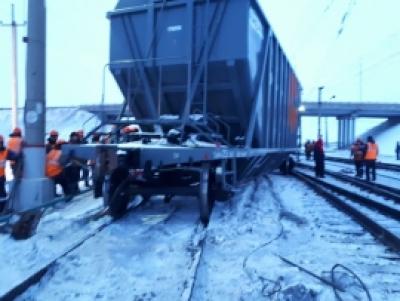 Четыре вагона сошли с рельсов в Новосибирской области