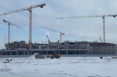 Парк возле нового ЛДС начали строить в Новосибирске