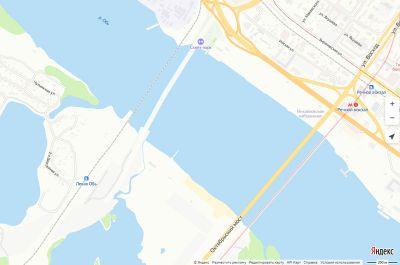 Четвертый мост нанесли на карту Новосибирска