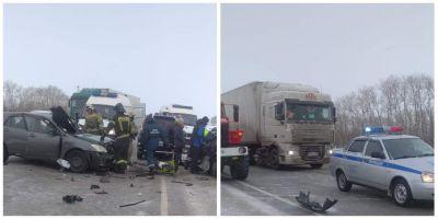 Страшное ДТП под Новосибирском: детей увезли на «скорой», женщина погибла