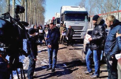 Забастовка против системы «Платон» докатилась до Новосибирска