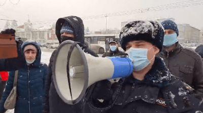 Новосибирцы на площади Ленина слушали Цоя в знак протеста