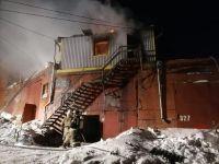 Четверо погибли в горящей пристройке в Новосибирске