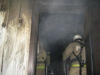 Новый пожар в жилом доме ликвидировали новосибирские огнеборцы