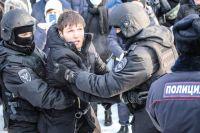 Новосибирск вошел в ТОП-3 городов по числу задержанных на акции за Навального