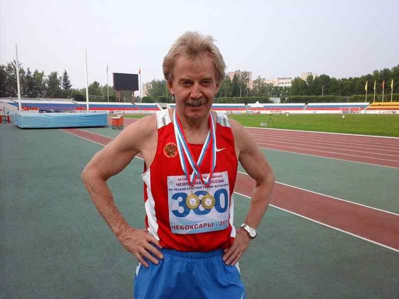 Николай Красников — многократный чемпион России по легкой атлетике среди ветеранов