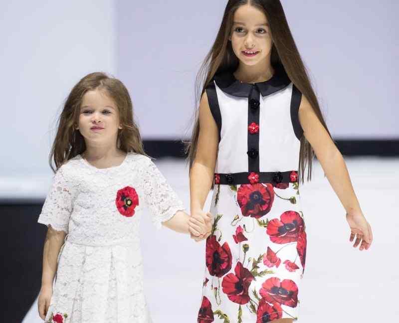 Бородина вывела дочек на подиум