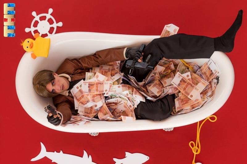 В набитой деньгами ванне искупались новосибирцы