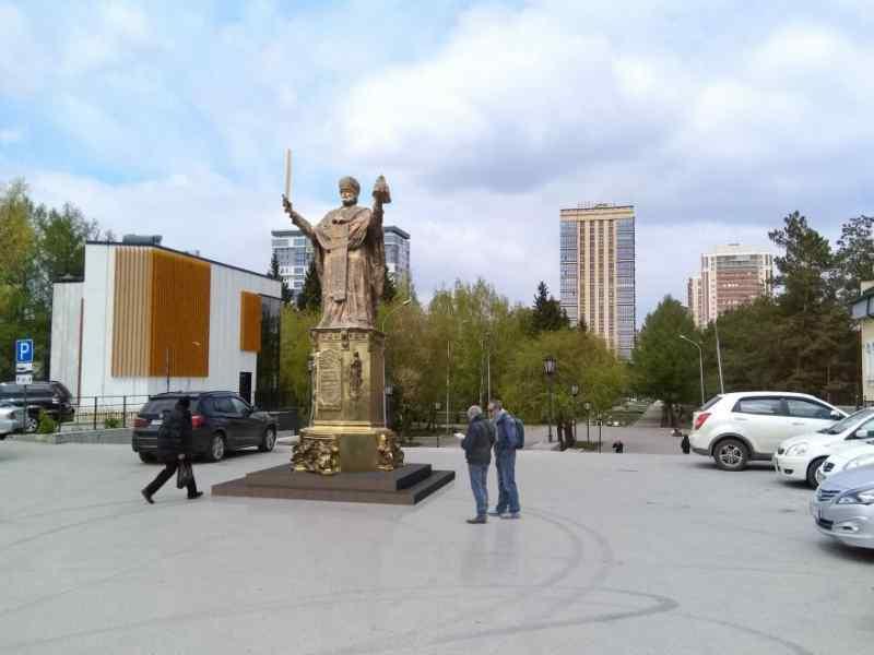 Эскизный проект памятника Николаю Чудотворцу в Новосибирске