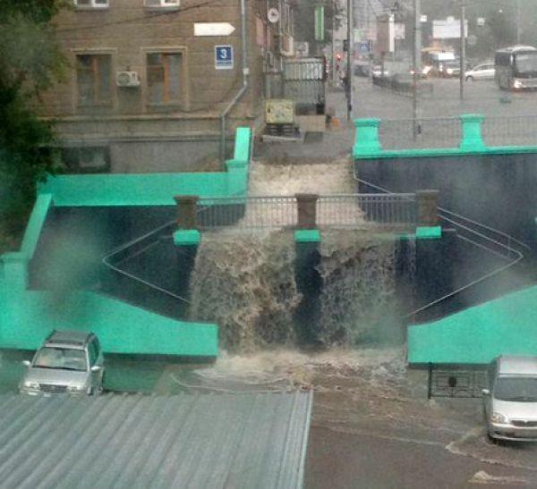 Затопленный Новосибирск (фото, видео)