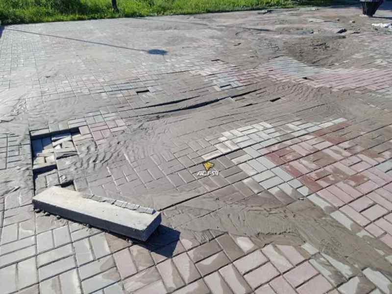 Сильнейший ливень в Новосибирске размыл набережную