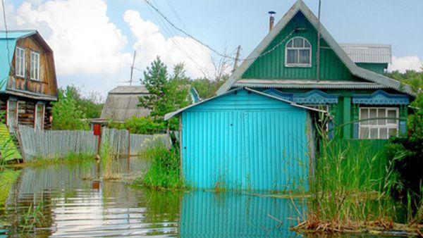 Обь начала топить дачные участки в Новосибирске