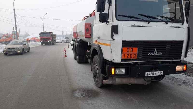 Появилось видео трагедии с бензовозом в Новосибирске